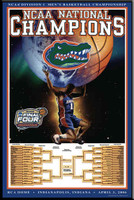 Florida Gators Basketball NCAA National Champions Poster