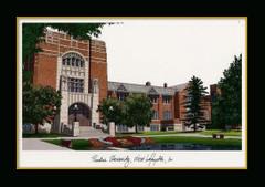 Purdue University Campus Landmark Framed Print