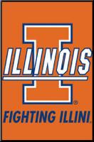Fighting Illini Logo Framed Poster