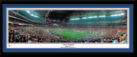 Gators Triumph Florida Gators Framed Panoramic Poster matted