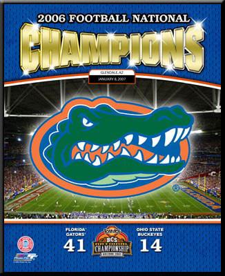 2006 Football National Champions Florida Gators Poster