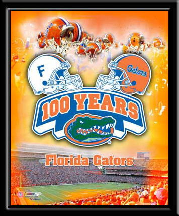 Gators Poster Framed Picture 100 Years Gators