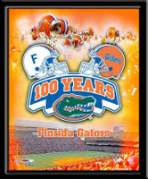 Florida Gators 100 Years of Football Framed Poster