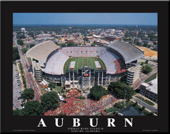 Auburn Tigers Jordan-Hare Stadium Aerial Photo Poster