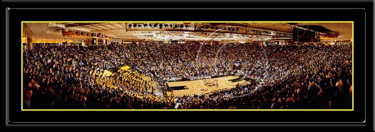 Carver Hawkeye Arena Iowa Poster Print