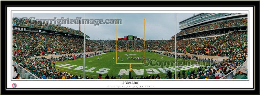 MSU Spartans 19 Yard Line Panoramic Picture no mat