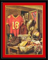 Iowa State Cyclone Legacy Football Print