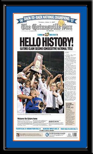 The Gainesville Sun 2007 Hello History Headlines Framed