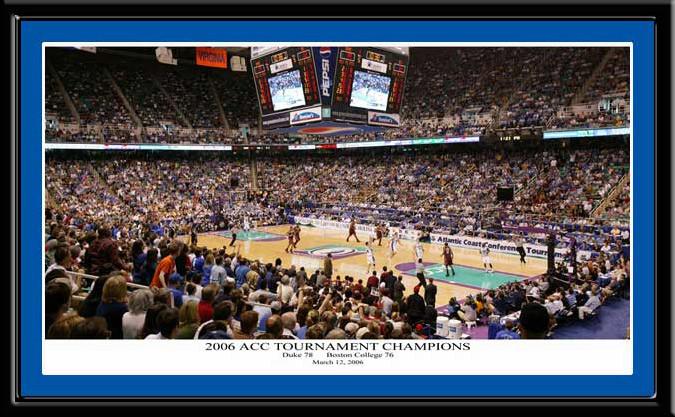 Duke Basketball 2006 ACC Tournament Champions Poster