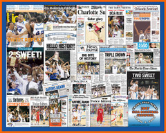 Front Page Collage Florida Gators Basketball Headlines Poster