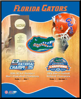 Florida Gators Triple National Champions Framed Poster