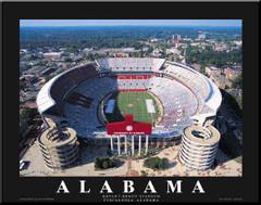 Bryant Denny Stadium Alabama Aerial Photo Poster