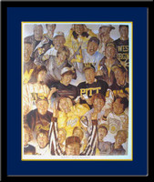 Right Here With the West Virginia Mountaineers Framed Picture