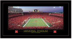 Nebraska Huskers Memorial Stadium Panoramic Poster