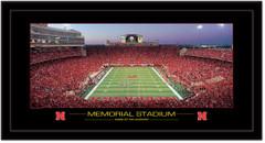 Nebraska Huskers Memorial Stadium Panoramic Poster