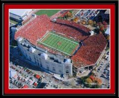 Nebraska Aerial Photograph Huskers Stadium