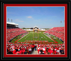 Louisville Cardinal Stadium Framed Football Photo