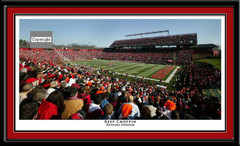 Rutgers Scarlet Knight Rutgers on the Rise Framed Poster