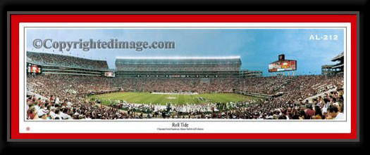 Alabama Roll Tide! Bryant Denny Stadium Framed Panoramic Picture