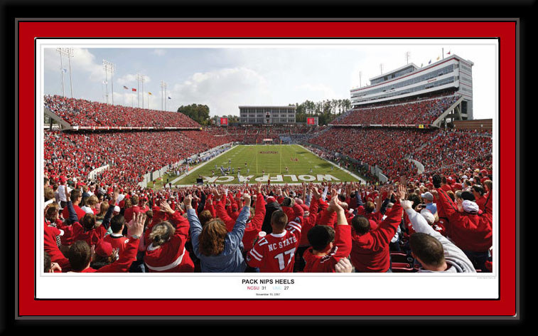 NC State Wolf Pack Nips Heels Framed Poster