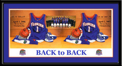 Florida Gators Basketball Team Photo Picture Back to Back