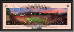 USC Trojans 2008 Rose Bowl Game Sunset Framed Poster