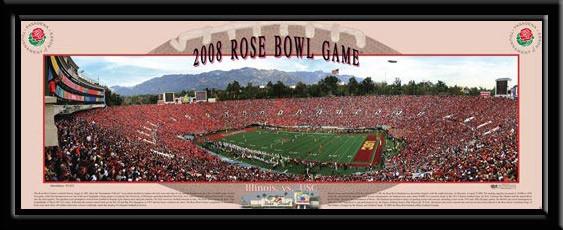 USC Trojans 2008 Rose Bowl Game at Kickoff Panoramic