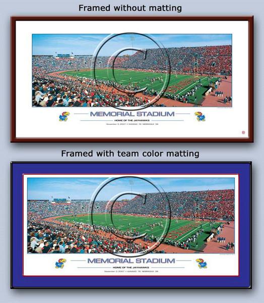 University of Kansas Memorial Stadium Poster