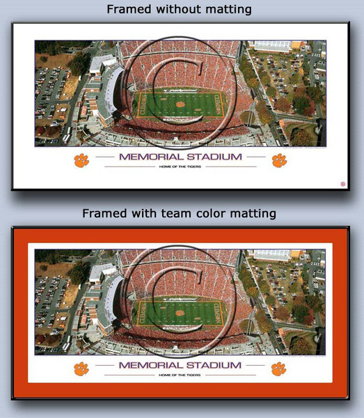 Memorial Stadium Home of the Clemson Tigers Framed Poster