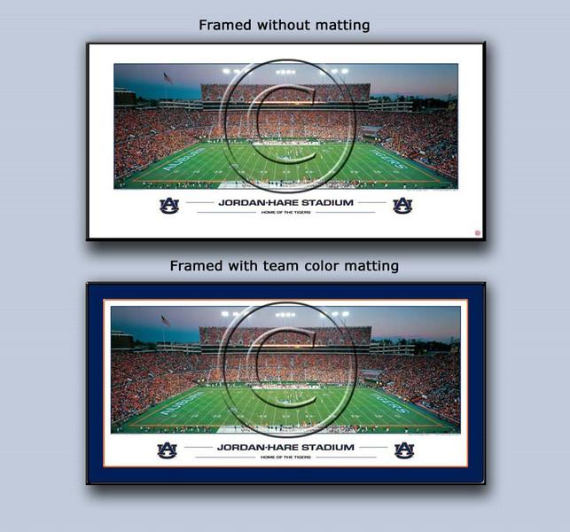 Auburn Tigers Jordan-Hare Stadium Framed Panoramic Poster