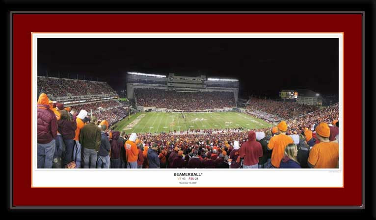 Beamerball Virginia Tech Football Lane Stadium Framed Picture