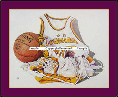 Louisiana State Basketball Framed Picture