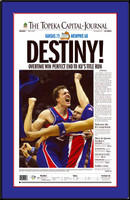 Kansas Destiny! Jayhawks Newspaper Headlines Poster