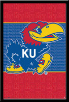 Kansas KU Logo Framed Poster