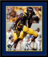 Mountaineers Running Back Steve Slaton Framed Photo