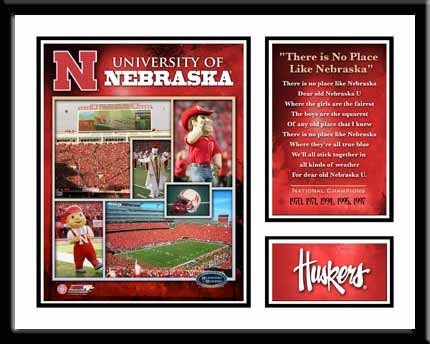 There's No Place Like Nebraska Fight Song Photo Collage