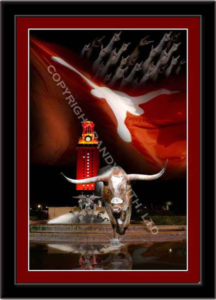 Longhorns Framed Picture Texas Victory