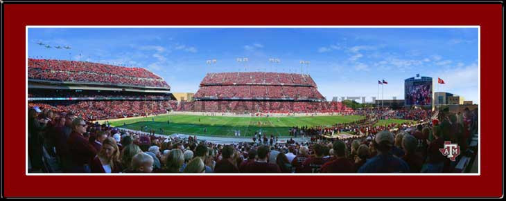 Maroon Out Texas A & M Kyle Field Panoramic Photo