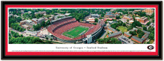 Georgia Bulldogs Sanford Stadium Framed Aerial Panoramic Poster