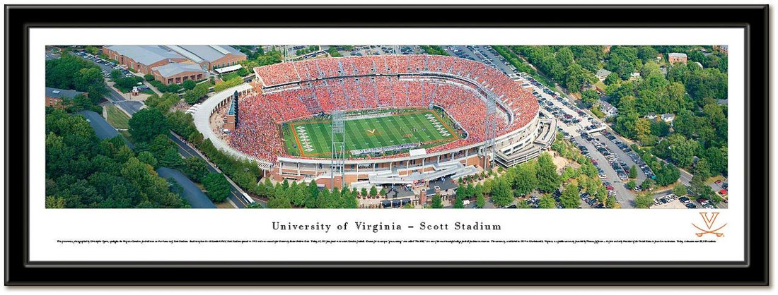 University of Virginia Scott Stadium Framed Picture