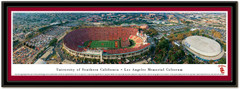 USC Memorial Coliseum Framed Panoramic Poster matted