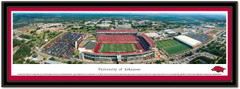 Donald W Reynolds Razorback Stadium Framed Panoramic Poster matted