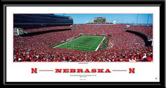 Huskers Football Springtime at Nebraska Framed Poster