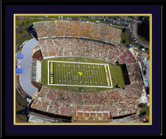 WVU Mountaineer Field Aerial Map Framed Picture