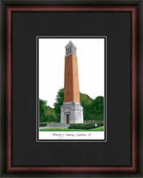 University of Alabama Tuscaloosa Lithograph Picture