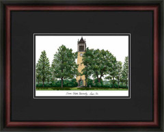 Iowa State Campus Lithograph Picture