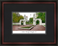 Indiana University Campus Lithograph Picture