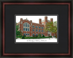 University of Oklahoma Campus Lithograph Picture