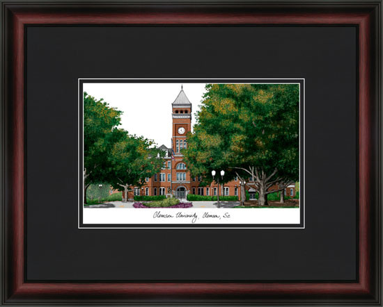 Clemson University Campus Lithograph Framed Picture