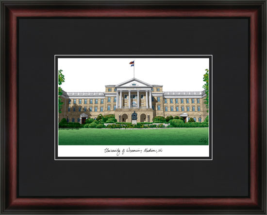 University of Wisconsin Campus Lithograph Picture
